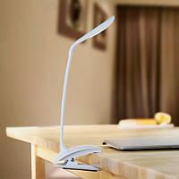 Аккумуляторная настольная USB лампа Remax Milk Series клипса (white), фото 1