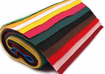Фетр 20 * 25 см, толщиной 1 мм, оптом, разные цвета