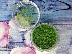 Блестки голографические, зеленые №102