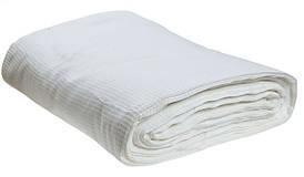 Вафельная белая ткань 200г/м2