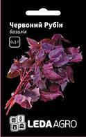 "Семена базилика красного Красный Рубин, 0,3 гр., ТМ ""ЛедаАгро"""
