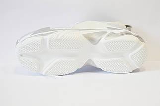 Кроссовки женские бело-серебристые Tucino, фото 3