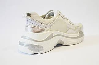 Кроссовки женские бело-серебристые Tucino, фото 2