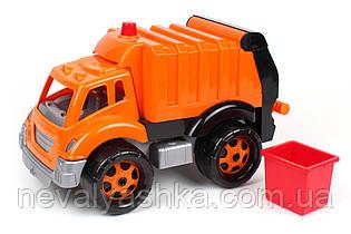 Машинка Мусоровоз ТехноК 35 см мусорный контейнер, пластик, в сетке 1752, 011170