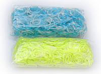 Прозрачные резинки для плетения Rainbow loom желтого цвета