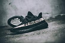 Мужские кроссовки Adidas Yeezy Boost 350 Sply V2 Black/White Line, Адидас Изи Буст 350, фото 2