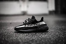 Мужские кроссовки Adidas Yeezy Boost 350 Sply V2 Black/White Line, Адидас Изи Буст 350, фото 3