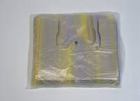 Полиэтиленовые пакеты майка в цветную полоску