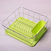 Сушилка для посуды из хромированной стали с поддоном Kamille 0763A