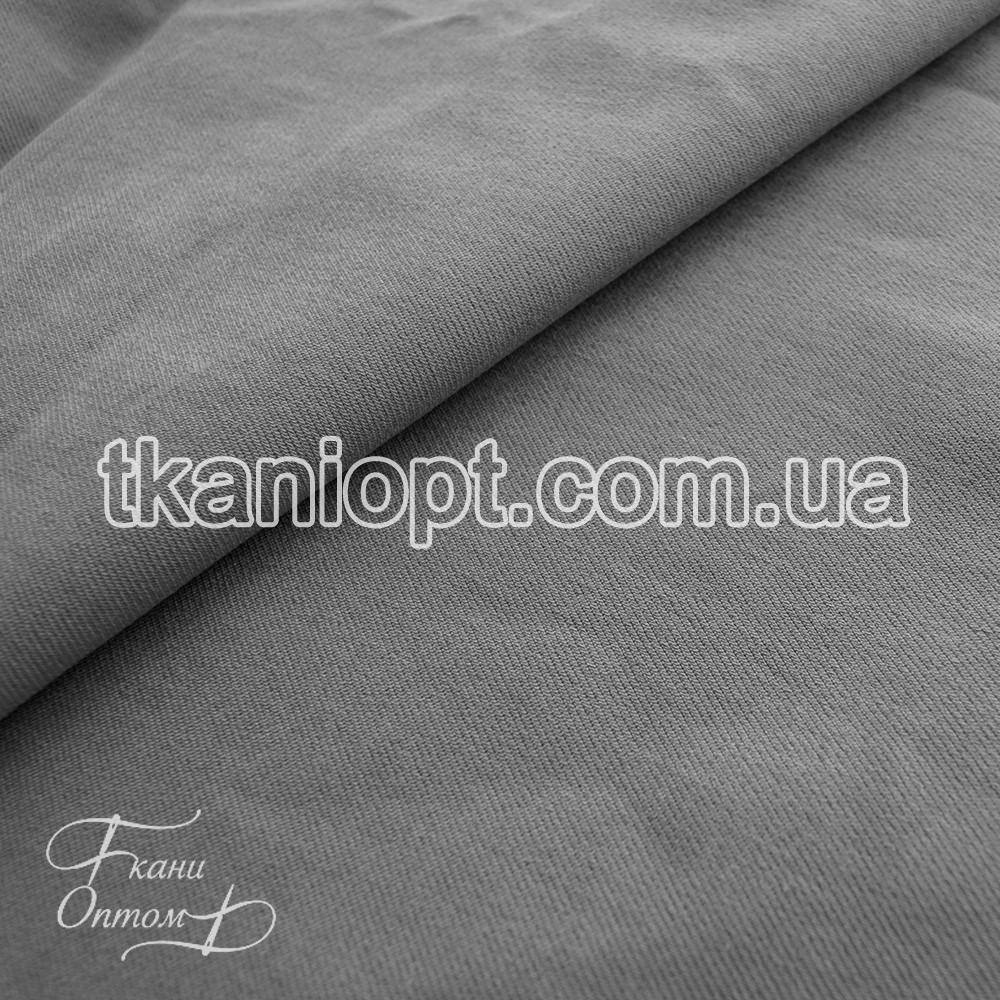 Ткань Джинс бенгалин стрейч (серый)