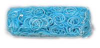 Двусторонние резинки для плетения Rainbow loom голубого цвета