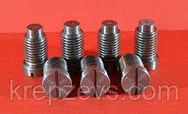 Производство винтов с цилиндрической цапфой, головкой в форме цилиндра и прямым шлицем