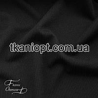 Ткань Трикотаж кашкорсе пенье (черный)