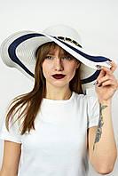 Широкополая шляпа Прасилин белая