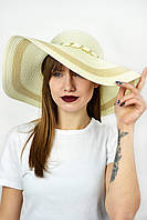 Широкополая шляпа Прасилин кремовая
