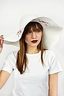 Широкополая шляпа Сентоза белая