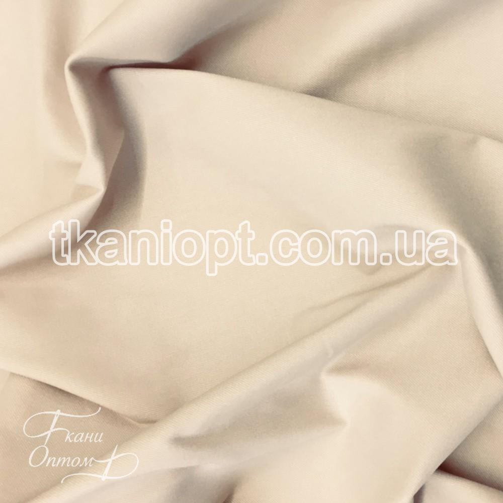 Ткань Джинс бенгалин стрейч (светло-бежевый)