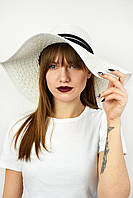Широкополая шляпа Тасмания белая