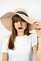 Широкополая шляпа Тасмания пудровая