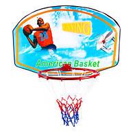 Щит баскетбольный с кольцом и сеткой GB-009