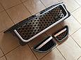 Решетка радиатора и жабры Range Rover Sport (2005-2009) Серая, чёрная сетка, фото 3