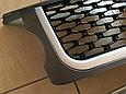 Решетка радиатора и жабры Range Rover Sport (2005-2009) Серая, чёрная сетка, фото 5