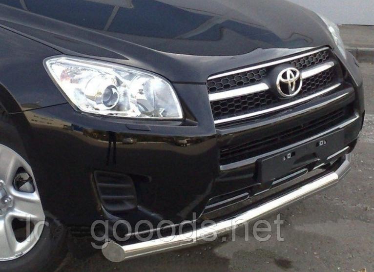 Защитная дуга по бамперу Toyota Rav 4 (2011-...) одинарная