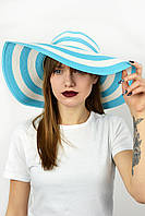 Широкополая шляпа Корсика бирюзовая