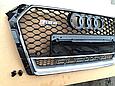 Решетка радиатора RS4 для Audi A4 2014-, фото 3