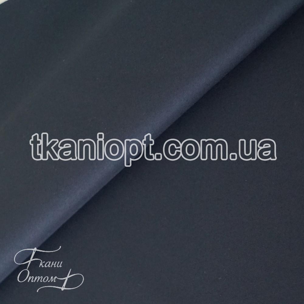 Ткань Плащевка на интерлоке президент (темно-синий)