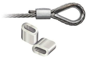 Зажим алюминиевый DIN 3093 3,0 mm