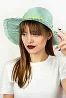 Шляпа федора Тайвань бирюзовая