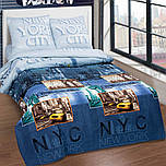 Постельное белье Евро, Нью-Йорк Сити, поплин 100%хлопок