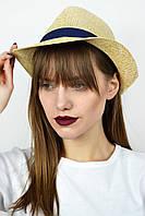 Шляпа челентанка Эвия бежевая