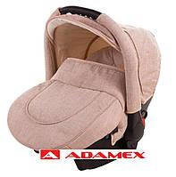 Детское автокресло Adamex CARLO бежевый лен, фото 1