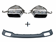 Диффузор заднего бампера BMW F01/F02 в стиле 740i, фото 8