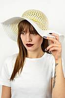Широкополая шляпа Джоси белая