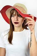 Широкополая шляпа  Джоси красный