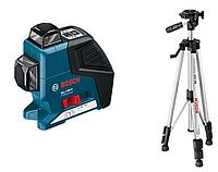 Лазерный нивелир Bosch GLL 2-80 P+ Штатив BS 150