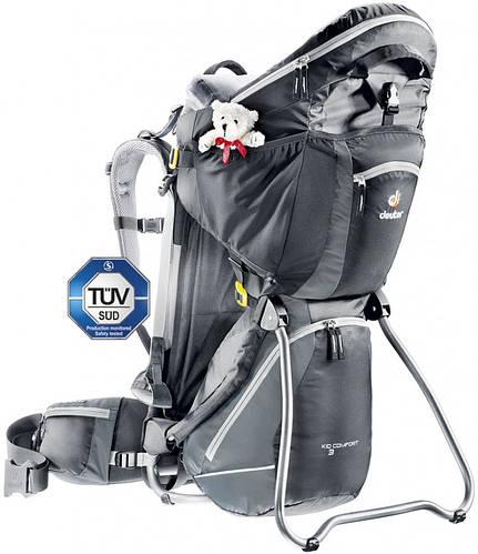 Слинг-рюкзак, рюкзак для переноски детей DEUTER KID COMFORT 3, 36524 7410 черный