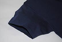 Мужская футболка плотная мягкая Тёмно-синяя Fruit of the loom 61-422-32 M, фото 2