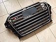 Решетка радиатора Audi A3 в стиле S3 чёрная, фото 2