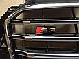 Решетка радиатора Audi A3 в стиле S3 чёрная, фото 3