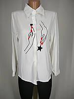 Стильная женская рубашка с трендовым принтом