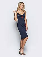 Соблазнительное коктейльное платье с нашивками 90274/3, фото 1