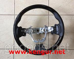 Руль Toyota Corolla 2013-... (черная кожа + черное дерево) Sport - type