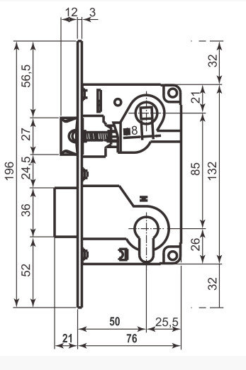 346fdc7b Замок AGB Centro под цилиндр PZ 50/85 бронза (кор): продажа, цена в ...