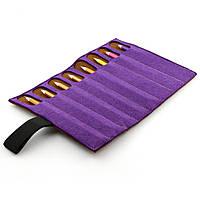 Чехол для карандашей Digital Wool 8 (Color) фиолетово-коричневый