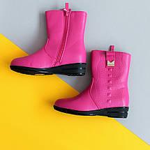 Розовые демисезонные полу сапожки на девочку, детская демисезонная обувь тм Том.м р.30,31, фото 3