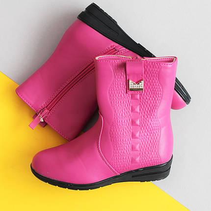 Розовые демисезонные полу сапожки на девочку, детская демисезонная обувь тм Том.м р.30,31, фото 2
